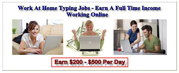 work at home data entry, earn a full time income online